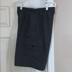 Nike cargo pockets draw string shorts